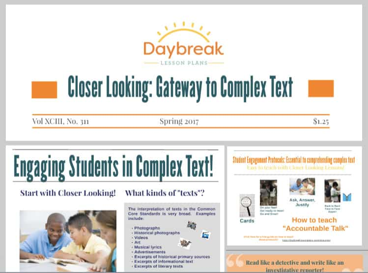 Thumbnail representing Closer Looking Gateway to Complex Text