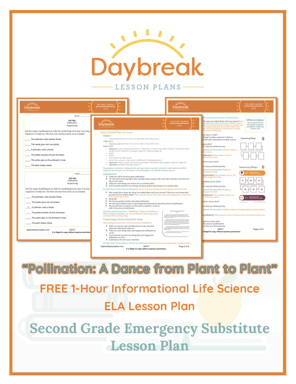 Illustration of the free 2nd Grade ELA lesson plan covers