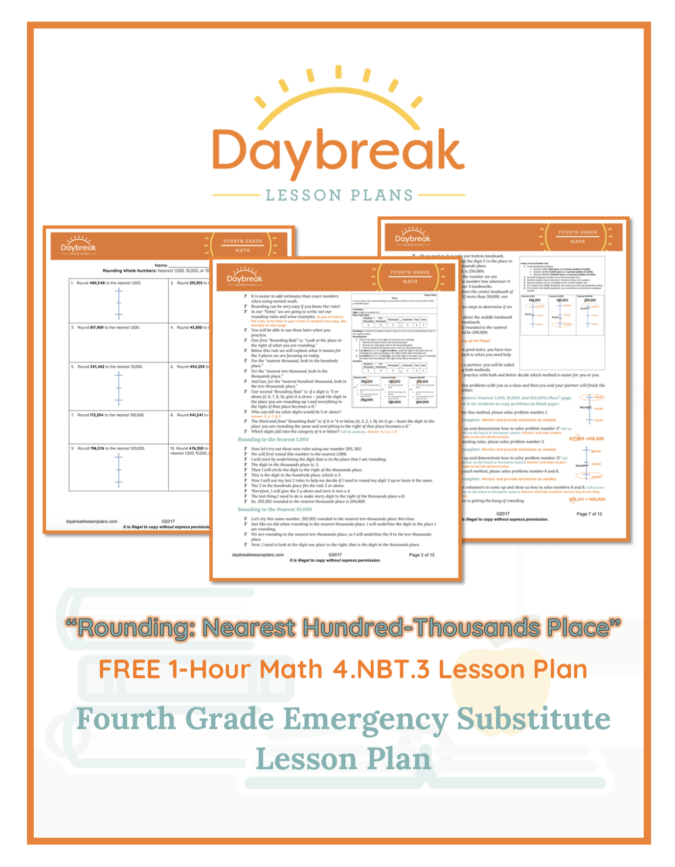 Free 4th Grade Lesson Plans - Daybreak Lessons