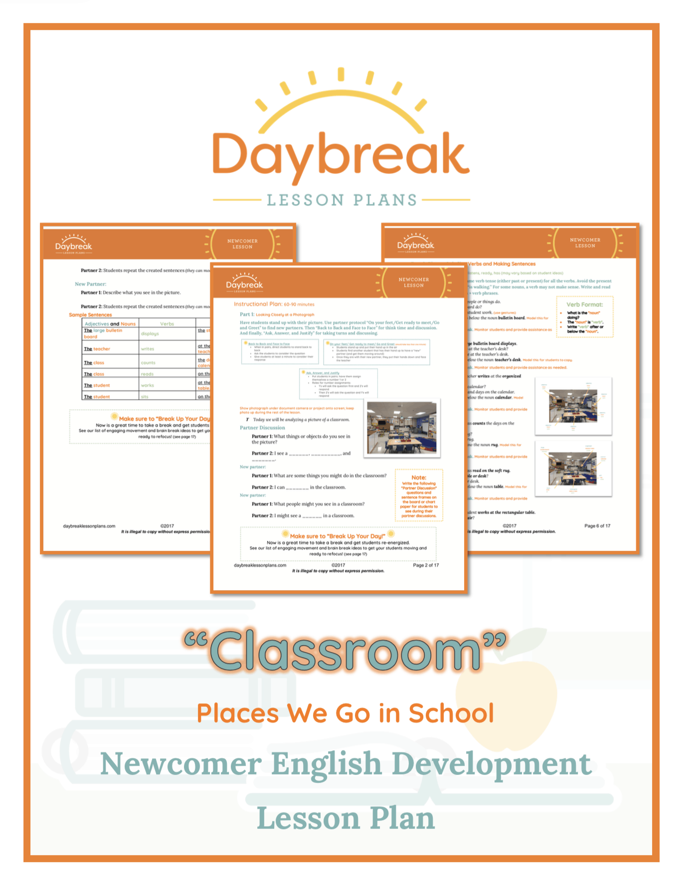 Classroom Design Page ~ Newcomer pwgis classroom coverpage daybreak lessons